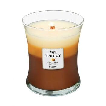 Lumânare în trei straturi cu parfum de prăjitură, vanilie și caramel WoodWick, 55 ore imagine