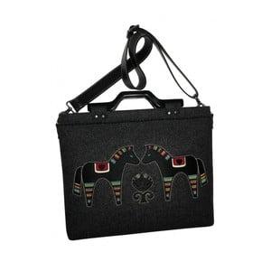 """Plstěná vyšívaná taška na laptop Goddess Black, 15,6"""""""