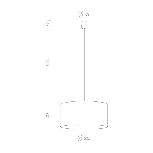Černé závěsné svítidlo Bulb Attack Tres, ⌀ 50cm