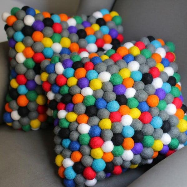 Ručně vyrobený kuličkový polštářek Happy Pills