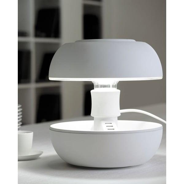 Stolní lampa a nabíječka v jednom Joyo Soft, bílá