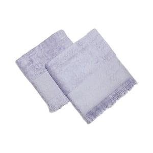 Sada 2 modrých ručníků Sehzade, 90x50cm