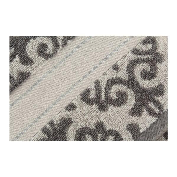 Sada 2 osušek Shiraz Cream Grey, 50x90 cm