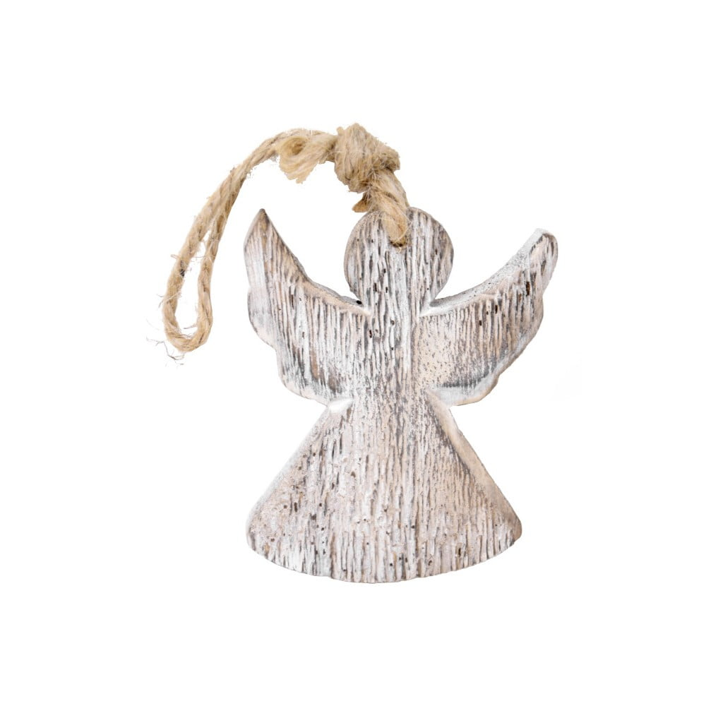 Závěsný dřevěný anděl Ego Dekor, výška 9 cm