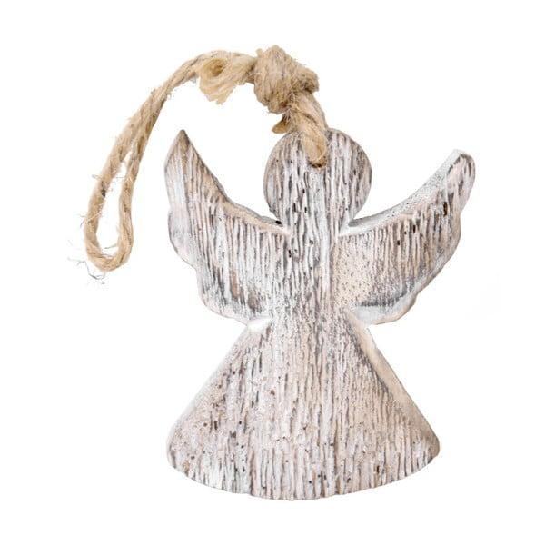 Závěsný dřevěný anděl Ego Dekor, výška9cm