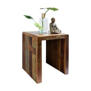 Odkládací stolek z recyklovaného mangového dřeva Skyport DELHI, výška 55 cm