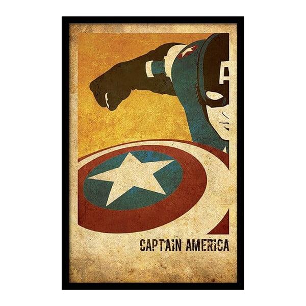 Plakát Captain America, 35x30 cm
