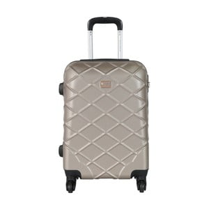 Béžové kabinové zavazadlo na kolečkách Travel World