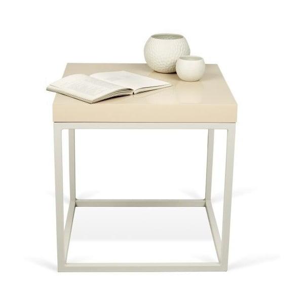 Odkládací stolek s krémovou deskou TemaHome Prairie