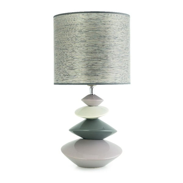 Stolní lampa Iza, světlá
