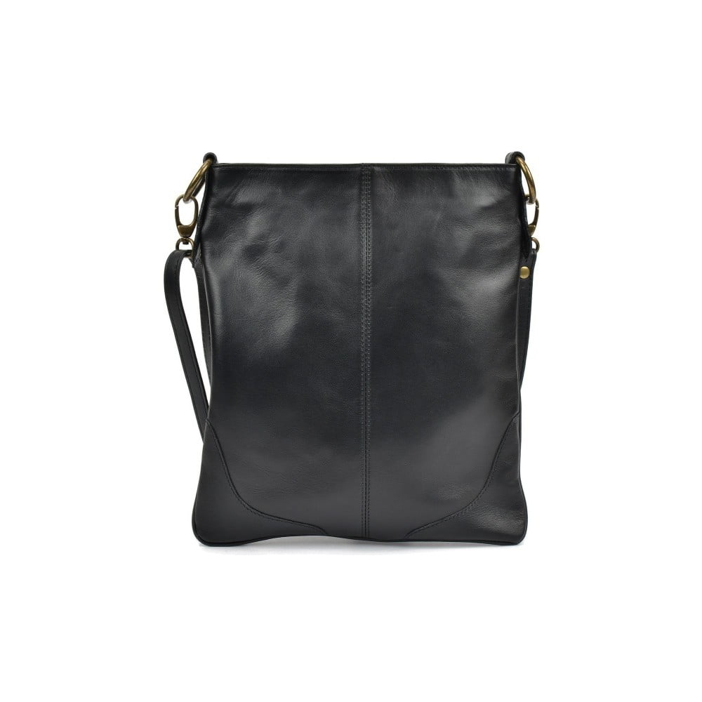 509d27b629 Černá kožená kabelka Mangotti Pasca