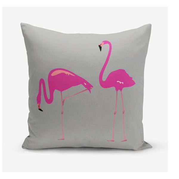 Față de pernă Minimalist Cushion Covers Flamingos, 45 x 45 cm