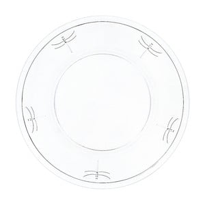 Skleněný talíř La Rochère Libellules, 32 cm