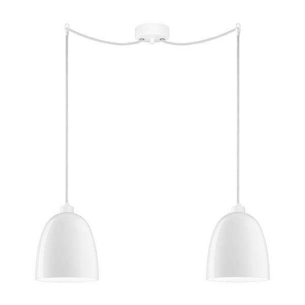 Bílé dvojité závěsné svítidlo Sotto Luce Awa Elementary 2S Glossy