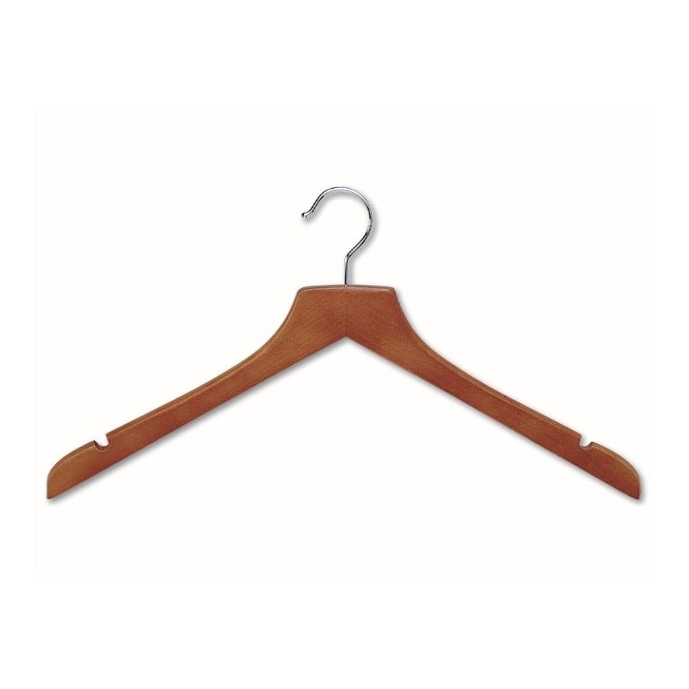 Hnědé ramínko z bukového dřeva na šaty Cosatto Hanger