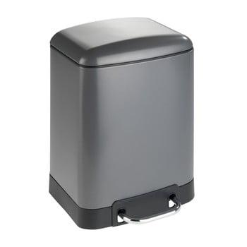 Coș de gunoi cu pedală Wenko Studio, 6 l, gri imagine