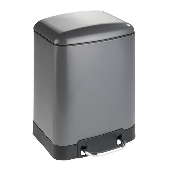 Coș de gunoi cu pedală Wenko Studio, 6 l, gri