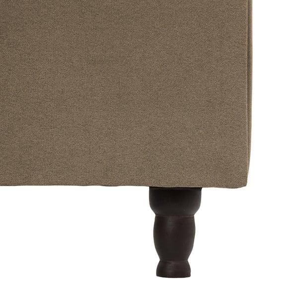 Hnědá postel s černými nohami Vivonita Allon,140x200cm