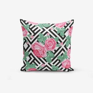 Povlak na polštář s příměsí bavlny Minimalist Cushion Covers Mix Rose, 45 x 45 cm