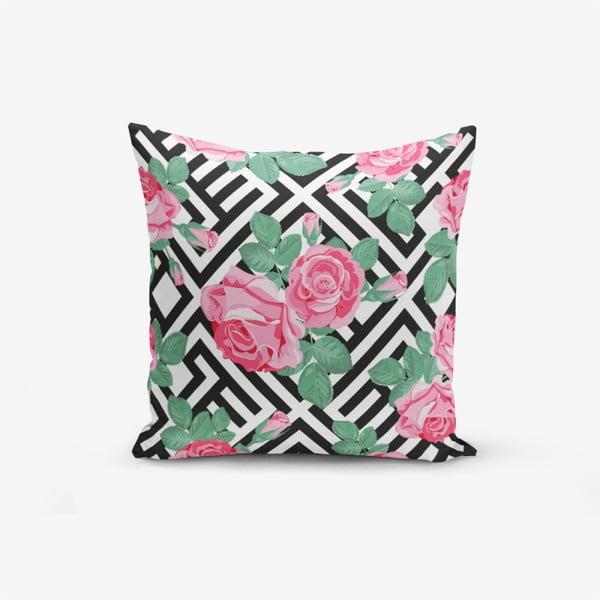 Față de pernă cu amestec din bumbac Minimalist Cushion Covers Mix Rose, 45 x 45 cm