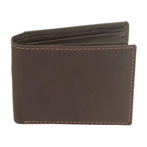 Hnědá kožená peněženka Friedrich Lederwaren Stitch London