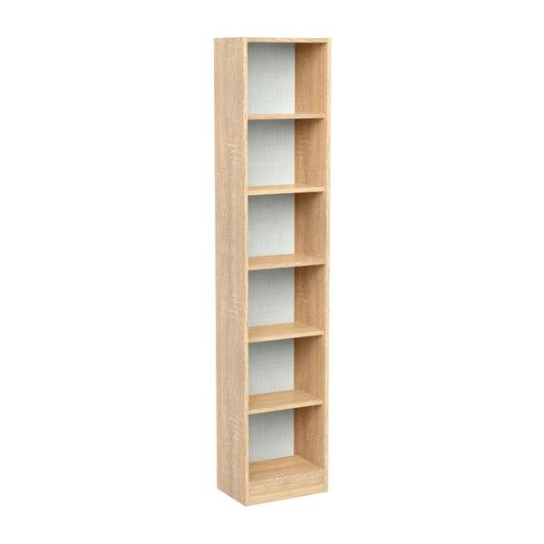 Knihovna v dekoru dubového dřeva se 6 přihrádkami Parisot Adrienne, šířka41cm