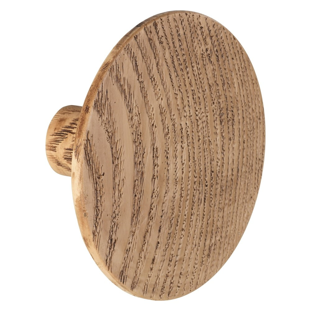 Nástěnný háček s dekorem dubového dřeva Wenko Melle, ⌀8cm