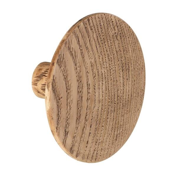Cârlig de perete Wenko Melle, ⌀8cm, decor lemn stejar