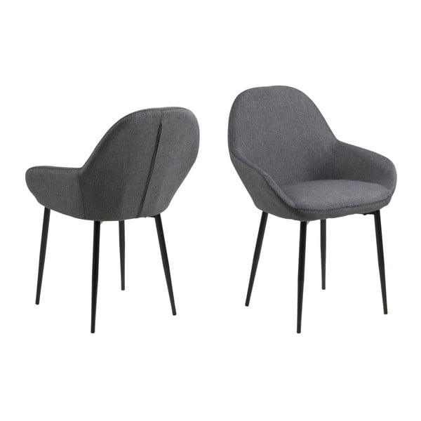Zestaw 2 szarych krzeseł Actona Candis