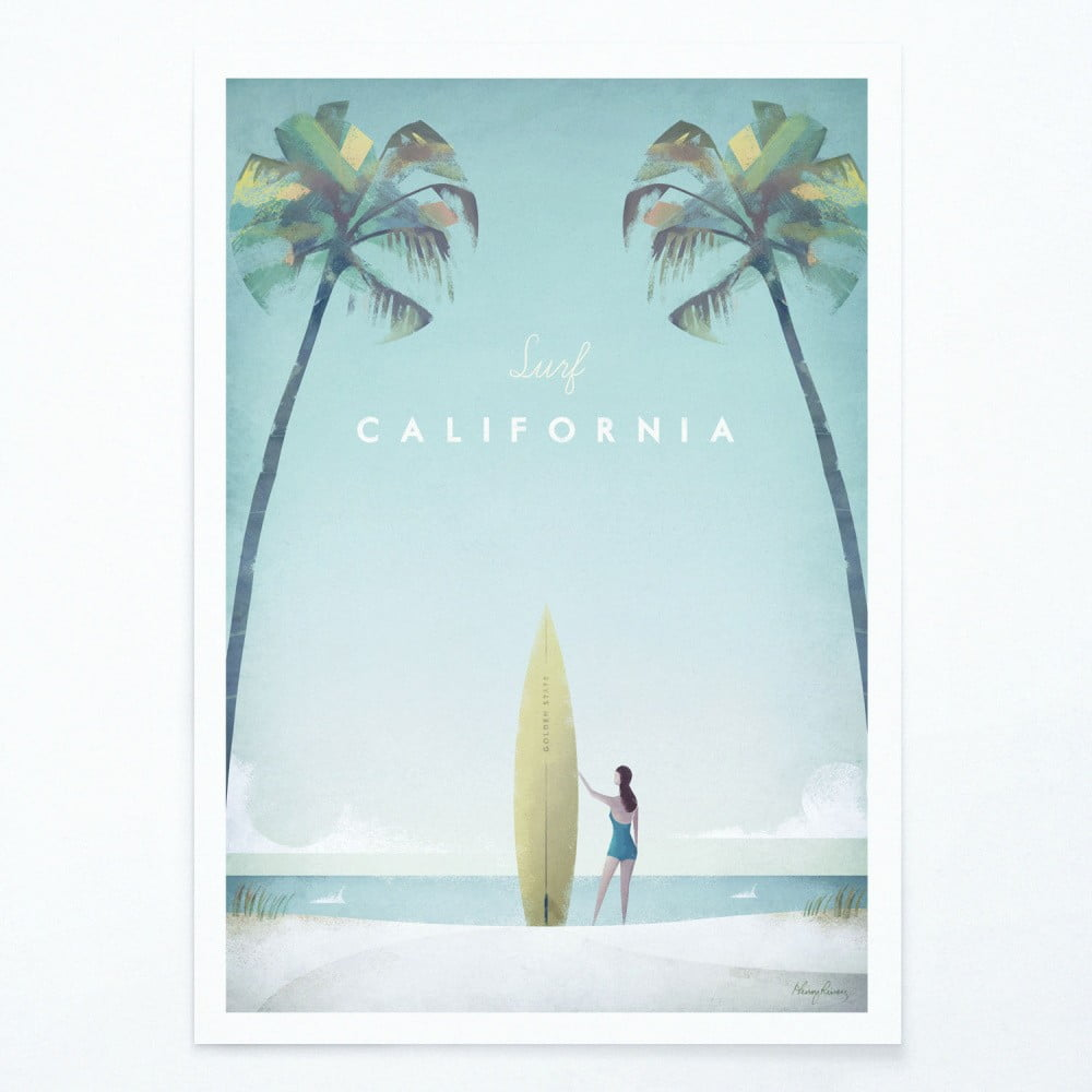 Plakát Travelposter California A2