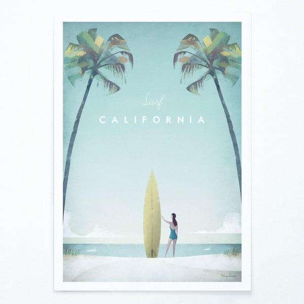 Plakát Travelposter California, A3