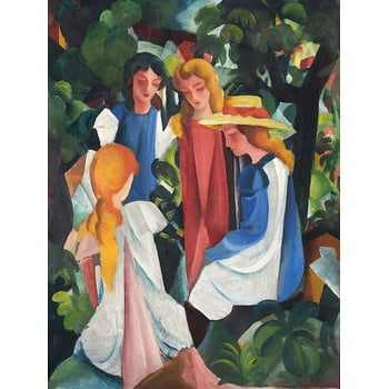 Reproducere tablou August Macke - Four Girls, 40 x 60 cm poza