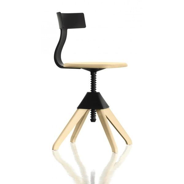 Czarno-brązowe krzesło biurowe Magis Tuffy