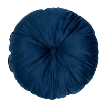 Puf din catifea House Nordic Luso, ø 45 cm, albastru imagine