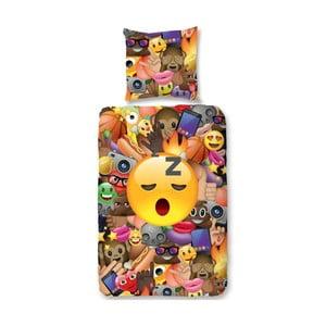 Lenjerie de pat din bumbac pentru copii Muller Textiels Laugh, 135 x 200 cm