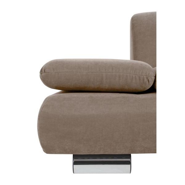 Canapea cu 2 locuri Max Winzer Terrence Anderson, cotiere ajustabile, maro deschis