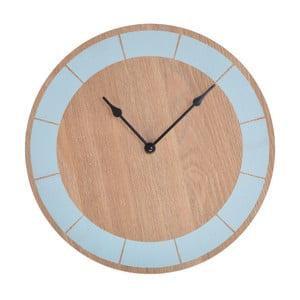 Dřevěné hodiny Ewax Blue, 30cm