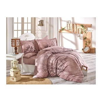Lenjerie de pat cu cearșaf din bumbac poplin Tura, 200 x 220 cm de la Hobby