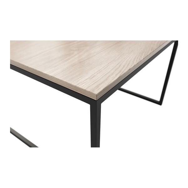 Béžový konferenční stolek s černými nohami MESONICA Eco, 60 x 40 cm