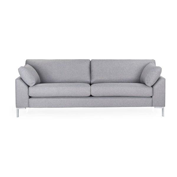 Canapea 3 locuri Softnord Garda, gri deschis