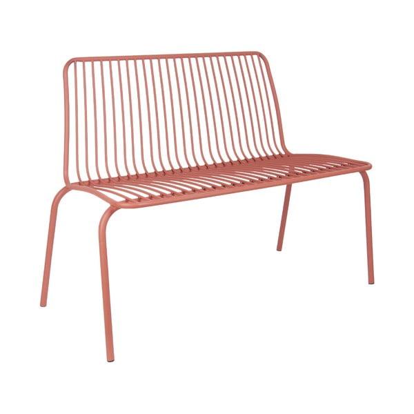 Ciemnoczerwona ławka odpowiednie na zewnątrz Leitmotiv Lineate
