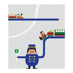 Obrazová tapeta Trains, 270x186 cm