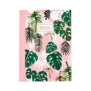Sešit Rex London Tropical Palm, velikost A6