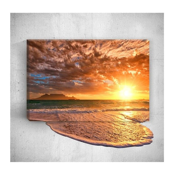 Tablou de perete 3D Mosticx Sea Sunset, 40 x 60 cm