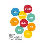 Plakát A3 How The World Says Hello