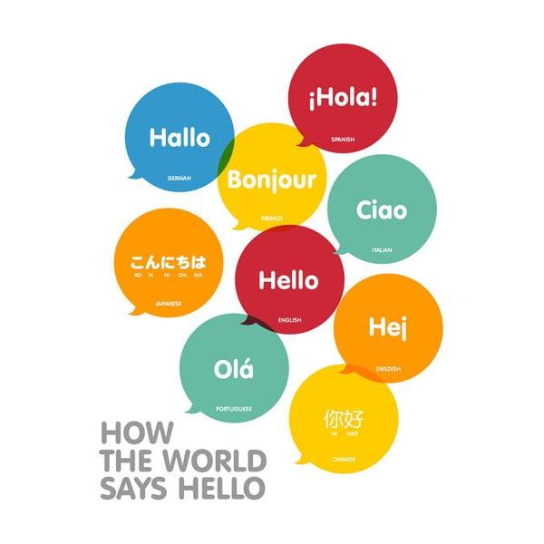 Plakát A3 How The World Says Hello