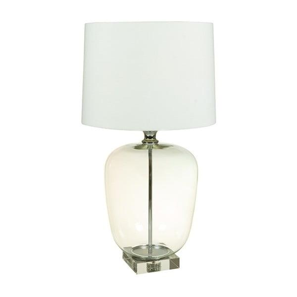 Klea fehér asztali lámpa, kristály talapzattal - Santiago Pons