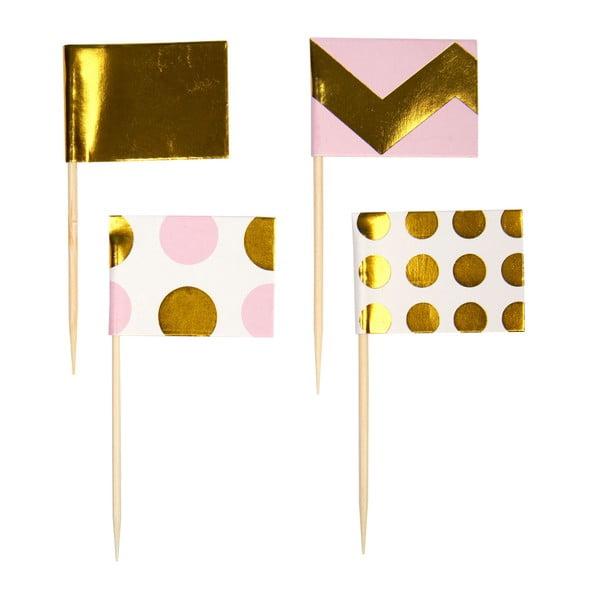 Sada 20 ružových vlajočiek na pochutiny Neviti Pattern Works Zig
