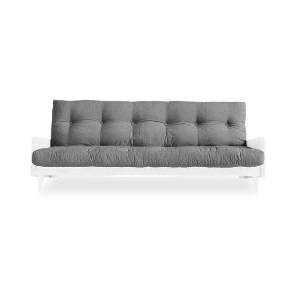 Indie White/Granite Grey szürke kinyitható kanapé - Karup Design