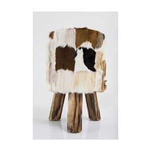 Taburet din piele Kare Design Flint Stone, ⌀ 48 cm